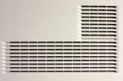 Plastic ventilation grille. Close-up view Royalty Free Stock Image