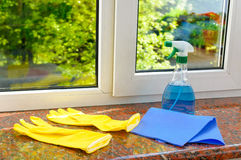 Plastic vinyl window Royalty Free Stock Photos