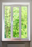 Plastic vinyl window Royalty Free Stock Image