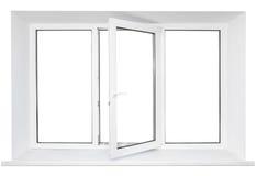plastic vitt fönster för ram Royaltyfri Foto