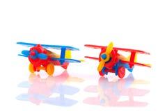 Plastic vliegtuigen royalty-vrije stock fotografie