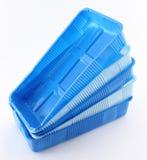 Plastic voedseldozen Stock Afbeelding