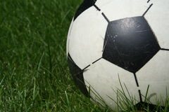 Plastic voetbal Stock Foto