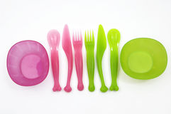 Plastic vorken royalty-vrije stock afbeeldingen