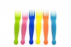 plastic vorken Royalty-vrije Stock Foto's