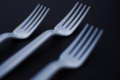 Plastic vorken Stock Foto