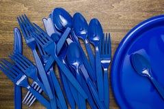 Plastic Ware For Picnic Stock Image