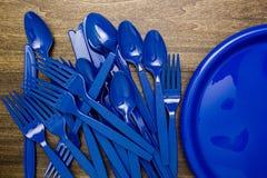 Plastic waren voor picknick stock foto's