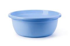 plastic wash för blå bunke royaltyfri bild