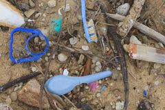 Free Plastic Washed Up On Cape York Beach Stock Images - 143566044