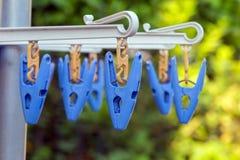 Plastic wasknijper Royalty-vrije Stock Foto's