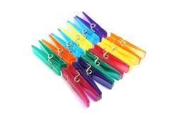 Plastic Wasknijpers stock foto's