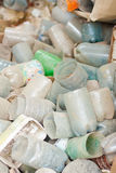 Plastic waste. Big pile of old plastic bottles Royalty Free Stock Photos