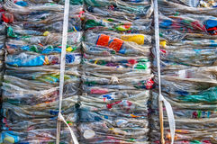 Plastic waste details Stock Photos