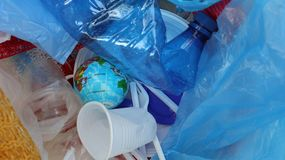 Plastic Waste Pollution Concept stock image