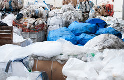 Plastic waste recycling plant Stock Photo
