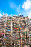 Plastic waste with sky Stock Image