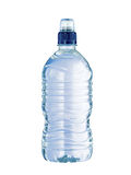 Plastic Water bottle with blue top Royalty Free Stock Photos