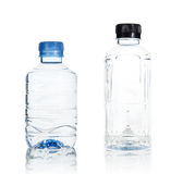 Plastic water bottle isolate Stock Photos