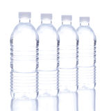 Plastic Water Bottle in a Row Stock Photography