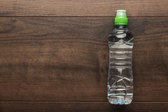 Plastic water bottle on the table Royalty Free Stock Image