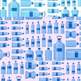 Plastic water bottle vector blank nature blue seamless pattern background clean liquid aqua fluid blank template. Plastic water bottle vector blank nature blue Stock Photography