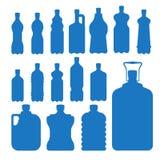 Plastic water bottle vector blank nature blue silhouette clean liquid aqua fluid blank template silhouette template. Illustration. Aqua fluid template Royalty Free Stock Image