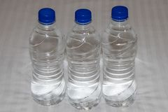 Plastic water bottle. On white background stock images