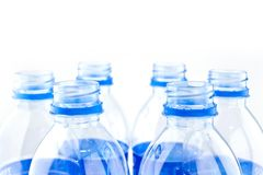 Plastic water bottles.  Stock Photos