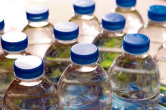 Plastic water bottles Royalty Free Stock Image