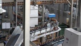 Plastic water bottles on conveyor stock footage