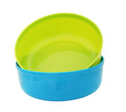 Plastic water bowls Stock Image