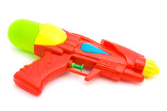 Plastic Water Gun Isolated On White Stock Photography
