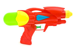 Plastic water gun isolated on white. Plastic water gun isolated over white royalty free stock image