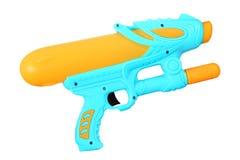 Plastic water gun isolated on white Stock Photos