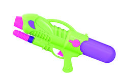 Plastic water gun isolated on white Royalty Free Stock Photo