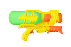 Plastic water gun isolated on white Royalty Free Stock Photos