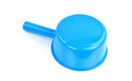 Plastic water scoop on white background Royalty Free Stock Images