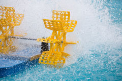 Plastic water turbine Royalty Free Stock Image