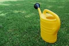 Plastic watering can Royalty Free Stock Photos