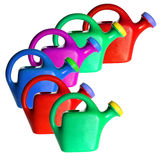 Plastic Watering Cans Stock Images