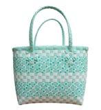 Plastic weave basket. Empty plastic weave basket isolated on white background Stock Photography