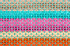 Plastic weave texture Stock Photos