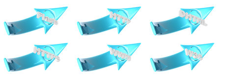 Plastic WEB arrows - clipping path Royalty Free Stock Photography