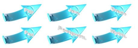 Plastic WEB arrows - clipping path Royalty Free Stock Images