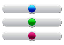 Plastic web buttons Royalty Free Stock Images