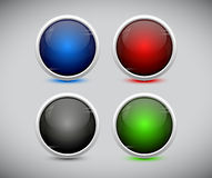 Plastic web buttons. Vector eps10. Stock Photo