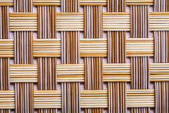 Plastic wicker woven texture background very close Stock Photos