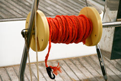 Plastic winch with rope Royalty Free Stock Photography