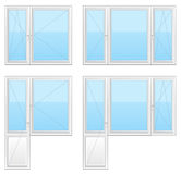 Plastic Window. On a white background Stock Images